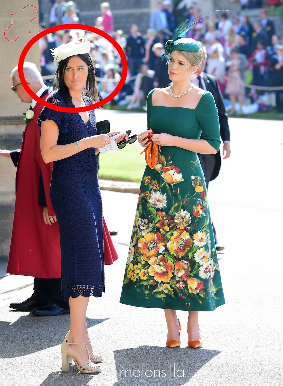 Look completo boda real Lady Kitty Spencer en verde botella